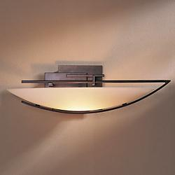 Ondrian Oval Wall Sconce (Stone/Bronze/Right) - OPEN BOX