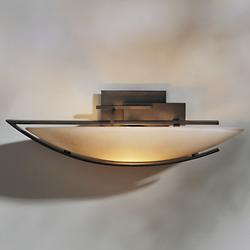 Ondrian Oval Wall Sconce (Stone/Bronze/Left) - OPEN BOX