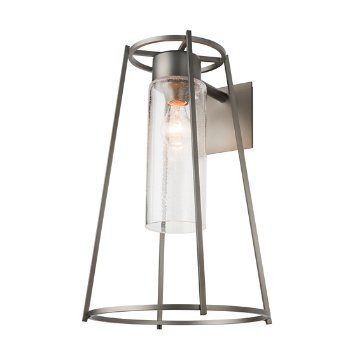 Shown in Coastal Bronze finish with Seeded Clear Glass color