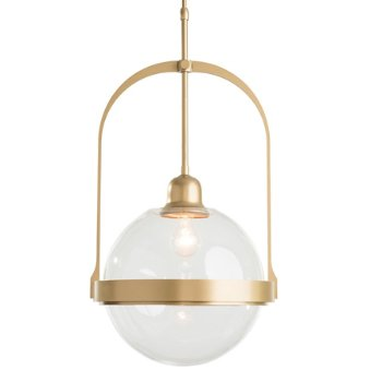 Shown in Gold finish with Opaline glass color, lit