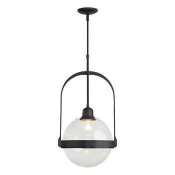Shown in Black finish with Clear glass color