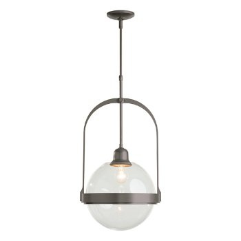 Shown in Natural Iron finish with Clear glass color