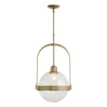 Shown in Soft Gold finish with Clear glass color