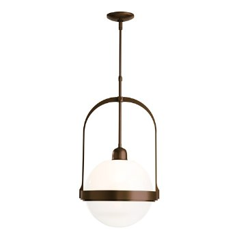 Shown in Bronze finish with Opaline glass color
