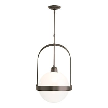 Shown in Dark Smoke finish with Opaline glass color