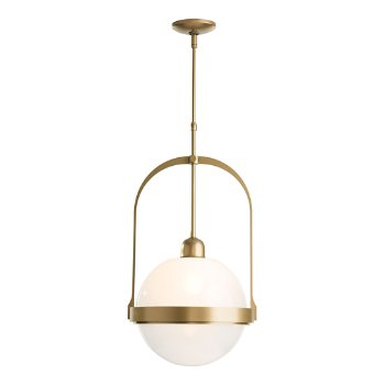 Shown in Opal Glass color, Gold finish