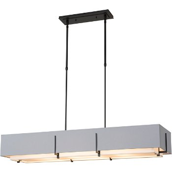 Shown in Black finish with Flax inner shade color & Medium Grey outer shade color