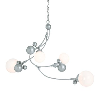 Shown in Vintage Platinum finish, Opal glass color