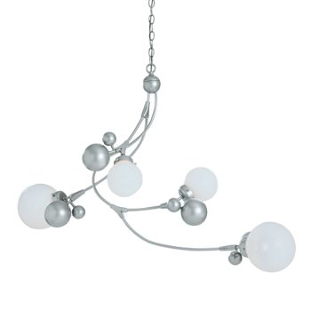 Shown in Vintage Platinum finish, Opaline glass color