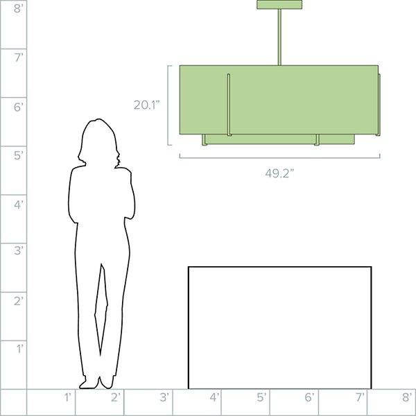 Exos Double Shade Large Scale Pendant