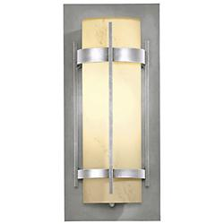 Banded Coastal Wall Sconce (Opal/Steel/Med/LED) - OPEN BOX