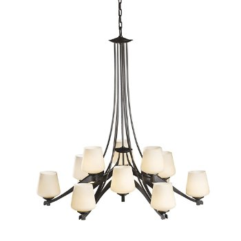 Shown in Hand Rubbed Bronze finish, Opal glass color
