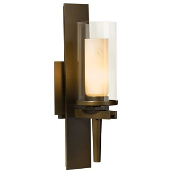 Shown in Opal and Clear Glass color with Bronze finish