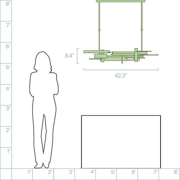 Planar LED Linear Suspension