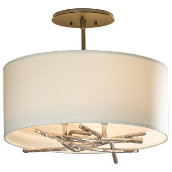 Shown in Soft Gold finish with Natural Anna shade