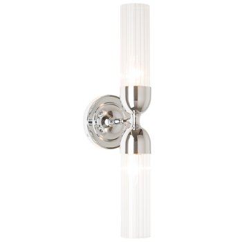 Shown in Brushed Nickel finish, Clear Glass color