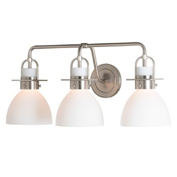 Shown in Brushed Nickel finish, Opal Glass color with 3 Light Option