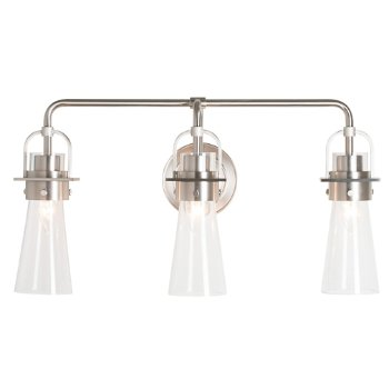 Shown in Brushed Nickel finish, Clear Glass color with 3 Light Option