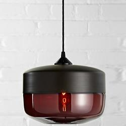 Wide Cylinder Pendant (Ruby/Dark Bronze) - OPEN BOX RETURN