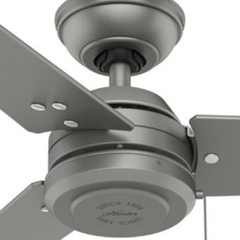 Shown in Matte Silver finish with Matte Silver blades, Detail view