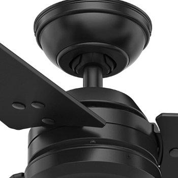 Shown in Matte Black finish with Matte Black blades, Detail view