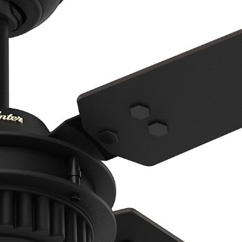 Shown in Matte Black finish with Matte Black blades, Detail view