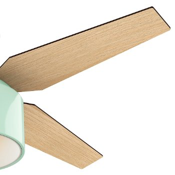 Shown in Mint finish with Blonde Oak blades, Detail view