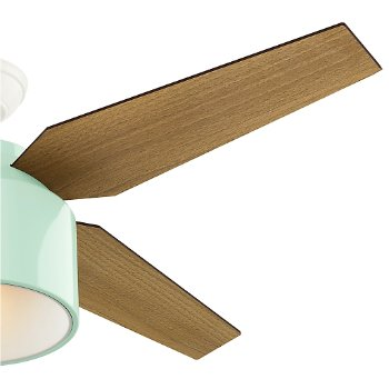 Shown in Mint finish with Mid Century Walnut blades, Detail view