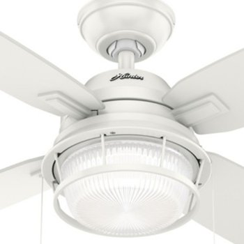 Shown in Fresh White with Fresh White blades finish, Detail view