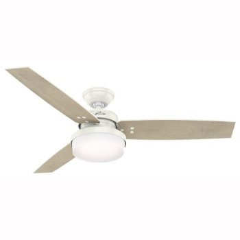 Shown in Fresh White with Bleached Grey Pin blades finish, 52 inch