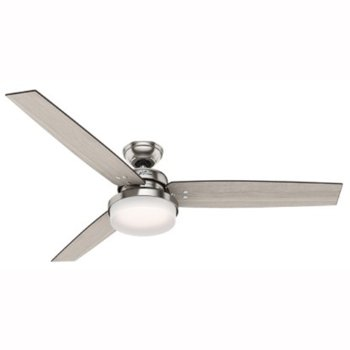Shown in Brushed Nickel with Grey Oak blades finish, 60 inch