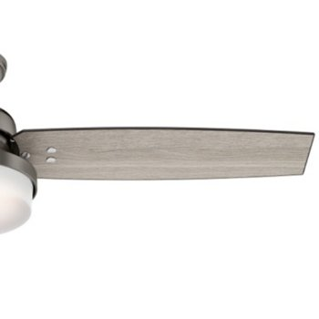 Shown in Brushed Slate with Light Grey Oak blades finish, 52 inch, Detail view