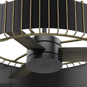 Shown in Matte Black and Modern Brass finish, Detail view
