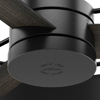 Shown in Matte Black and Gloss Black finish, Detail view