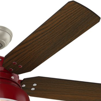 Shown in Barn Red with Medium Walnut blades finish, Detail view