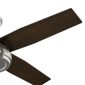 Shown in Brushed Nickel finish with Chocolate Oak blades