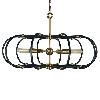 Shown in Antique Brass with Matte Black finish