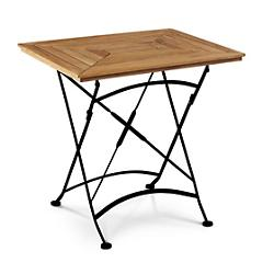 Bistro Outdoor Dining Table with Iron Legs