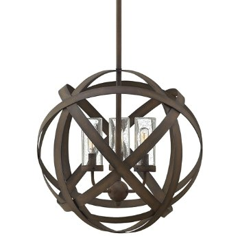 Shown in Vintage Iron finish, 3 Light