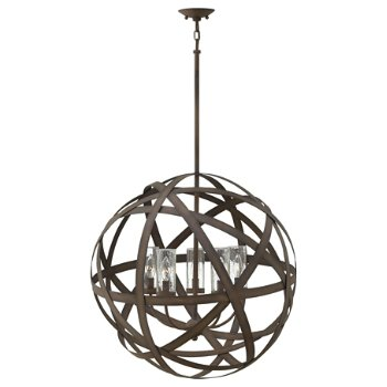 Shown in Vintage Iron finish, 5 Light
