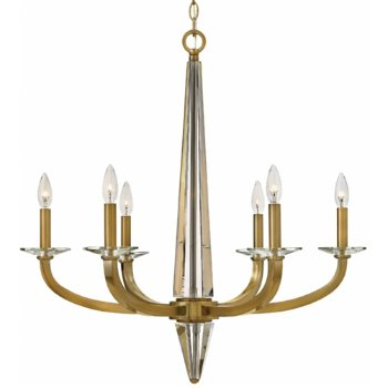 Shown in Polished Nickel finish, 6 Lights