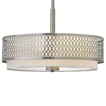 Jules semi flushmount chandelier