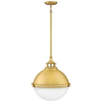 Shown in Satin Brass finish, Medium size