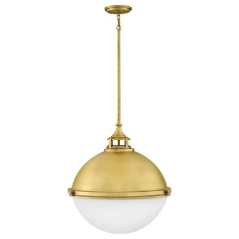 Shown in Satin Brass finish, Large size