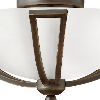 Shown in Olde Bronze finish, Opal Glass