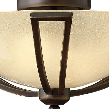 Shown in Olde Bronze finish, Light Amber Seedy Glass