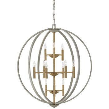 Euclid 3-Tier Chandelier