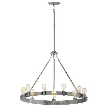 Shown in Brushed Nickel Finish, 9 Light