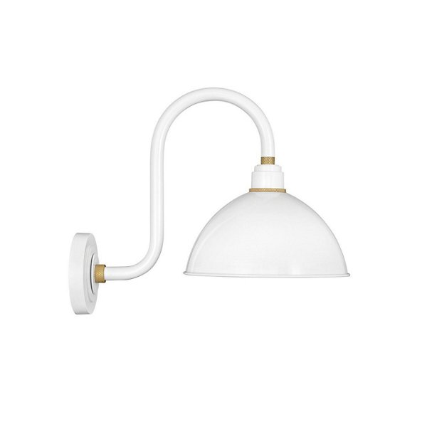Foundry Dome Tall Gooseneck Outdoor Wall Sconce