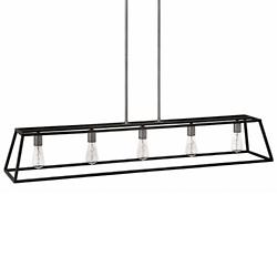 fulton 5 light linear suspension - Rectangular Lighting Fixture Dining Room